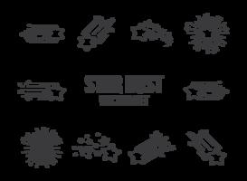 Stern Staub Icons Vektor
