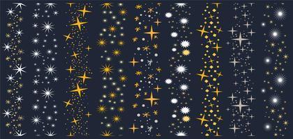 Kostenlose Sparkly Stars Brushes Vektoren