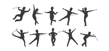 Tryck på Dance Silhouettes Vector
