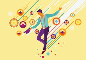 Illustration av Tap Dance Performer vektor