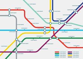 Gratis Tube Map Template Illustration vektor