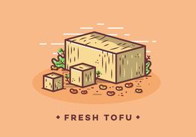 Freier frischer Tofu-Vektor