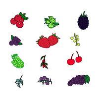 bär frukter vektorer