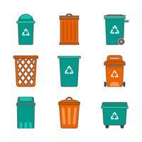 Freie Abfall-Korb-Vektor-Sammlung
