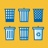 Avfallskorg ikoner vektor