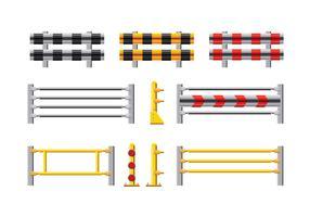 Sats med Vektor illustration av skyddsräcke