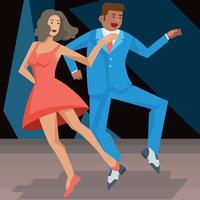 Tryck på Dance Vector Illustration