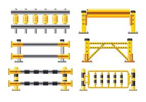 Ange detaljerad illustration av en skyddsräcke