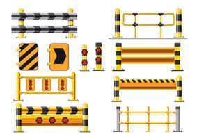 Barriär och Guard Rail Vector Pack