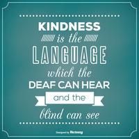 Typografisches Poster mit Freundlichkeits-Zitat vektor