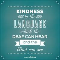 Typografisk affisch med vänlighet citat vektor