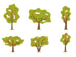 Flache Pfirsichbaum Vektor