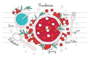Köstliche Cranberries Vektor