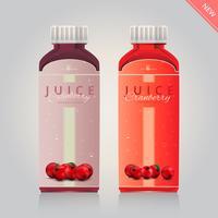 Cranberries Saft Werbung Vorlage vektor