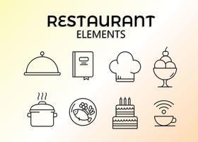 Kostenloses Restaurant-Elemente-Vektor vektor