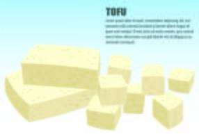 Illustration von Tofu-Konzept