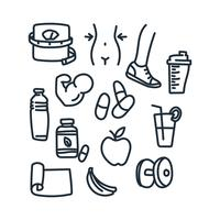 Gesundes Leben Vektoren