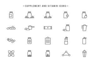 Kostenlose Ergänzungen und Vitamine Vektoren