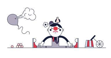 Freier trauriger Clown-Vektor