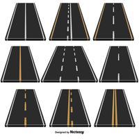 Vektor-Set von 9 Autobahnen