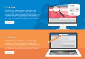 Domain Banner Vorlage kostenlose Vektor
