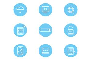 Webbplats och Internet ikoner vektor