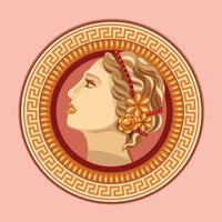 Aphrodite Forntida Grekisk Logo Vector