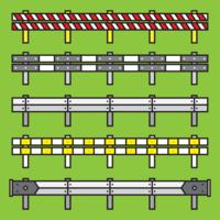 Leitschienen-Vektor-Set vektor