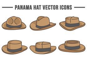 Panama-Hut-Vektor-Icons vektor