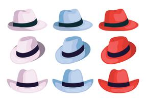 panama hatt samling vektor