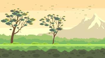 Landschaft Gum Tree kostenlose Vektor