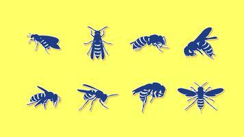 Hornets Aufkleber Kostenlose Vector