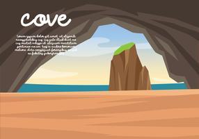 vik utsikt från grottan vektor