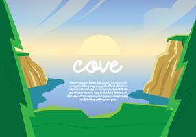 Cove Landschaftsansicht vektor