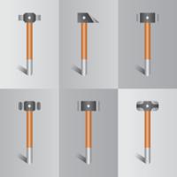 Realistische Vorschlaghammer Vektor