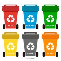Återvinning av avfallshantering vektor