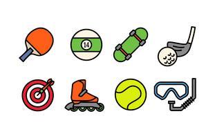 Sport Ausrüstung Icon Pack vektor