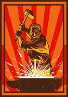 Mann mit Vorschlaghammer