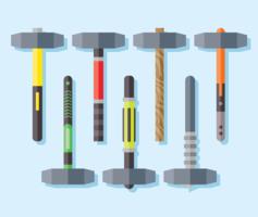 Vorschlaghammer Icons Vektor