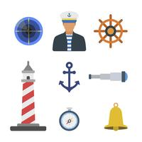 Plana sjömansvektorer vektor