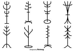 Vektor-Satz von Garderobenständer Silhouetten vektor