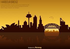 vektor sydney skyline - hamnbron