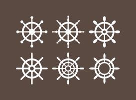Schiffe Rad Vektoricons