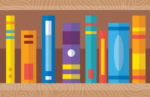 Bunte Bücher vektor