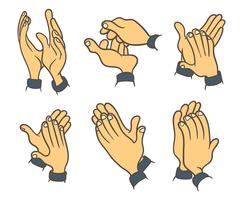 Hände klatschen Vektoricons