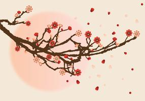 Plum Blossom-Vektor-Design