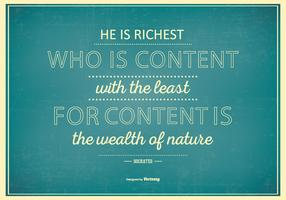 Typografisches Poster mit berühmtem Zitat von Sokrates