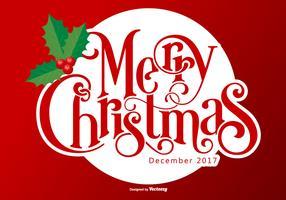 Vacker god jul bakgrund vektor