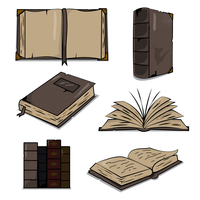 Alte antike Libro Vektor