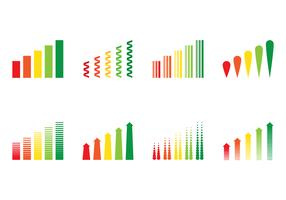 Inkomster Bar Graph Vectors
